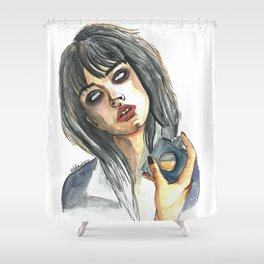 Edie Campbell Shower Curtain