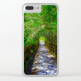 Path under the Tree Canopy Clear iPhone Case