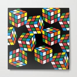 rubik cube pattern Metal Print