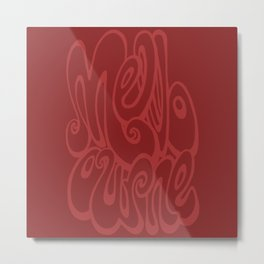 Melbourne typography - chile oil red Metal Print