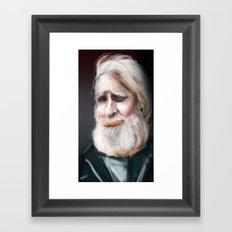 The Sad Captain Framed Art Print