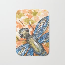 Dragonfly insect art Bath Mat