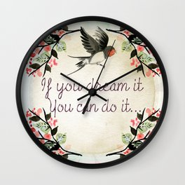 Dreamer Quote (Inspirational) Wall Clock