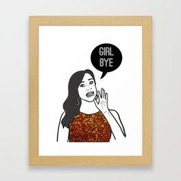 Girl Bye Framed Art Print