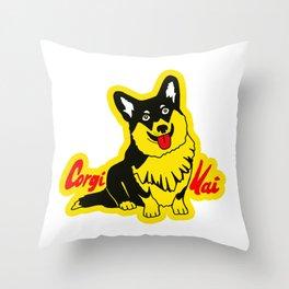 Corgi Kai Throw Pillow