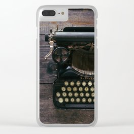 Vintage typewriter Clear iPhone Case