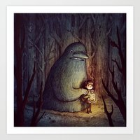 moomin Art Prints featuring The Groke by Marija Tiurina