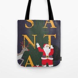 Santa Poster Tote Bag