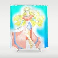 manga Shower Curtains featuring Manga Character by OrbitalSwan
