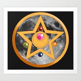 Moon Cosmic Power Art Print