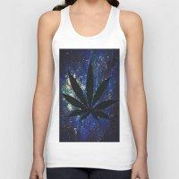 marijuana Tank Tops featuring Marijuana Galaxy by Megan Mayhem 17