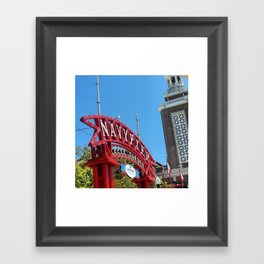 Navy Pier Beer Garden Framed Art Print