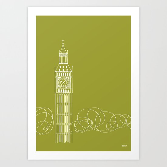 London by Friztin Art Print