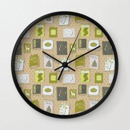Non-existent books Wall Clock