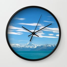 Mount Cook Cloudscape Wall Clock