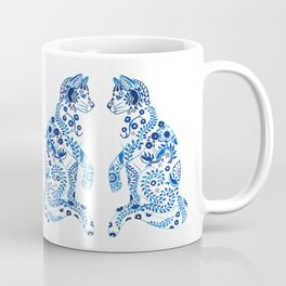 floral china cat Coffee Mug