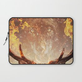 Wolf in the Flames Laptop Sleeve
