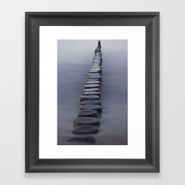 Groyne Framed Art Print