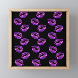 Galaxy Lips Framed Mini Art Print