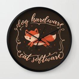 Dog Hardware Cat Software Wall Clock
