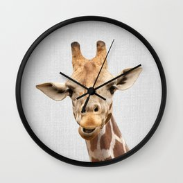 Giraffe 2 - Colorful Wall Clock