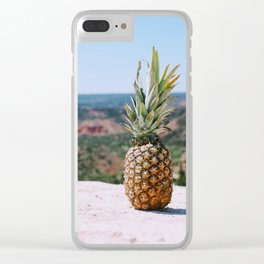 Pineapple Lovin Clear iPhone Case
