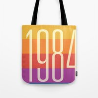 1984 Tote Bags featuring 1984 (h) by Dan Rubin