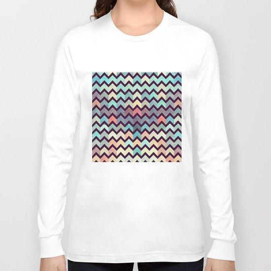 Glitter Chevron III Long Sleeve T-shirt