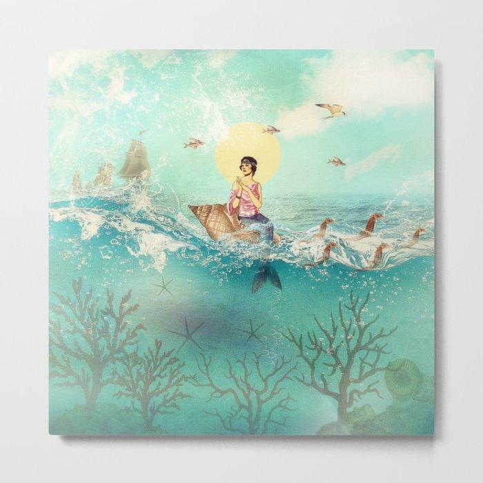 The Queen Mermaid Metal Print
