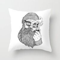 sailor Throw Pillows featuring SAILOR by Thiago Bianchini