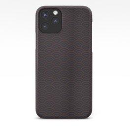 Seigaiha Wave Maroon & Navy No. 2 iPhone Case