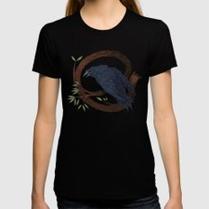 Raven  Womens Fitted Tee Black MEDIUM