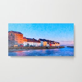 End Of A Beautiful Day In Galway Ireland On The Seaside Metal Print