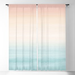 Touching Watercolor Abstract Beach Dream #3 #painting #decor #art #society6 Blackout Curtain