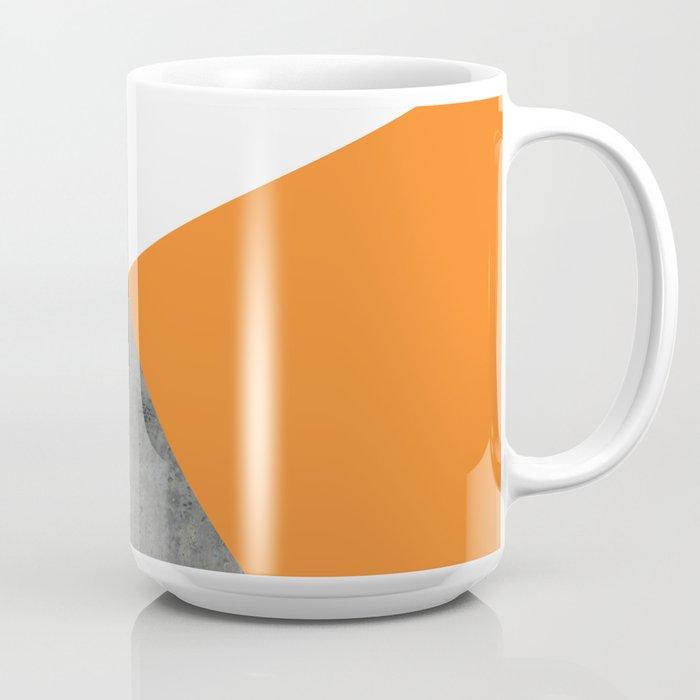 Concrete Tangerine White Coffee Mug