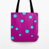 balloons Tote Bags featuring Balloons  by JuniqueStudio