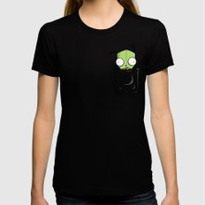 Pocket Spare Parts Black X-LARGE Womens Fitted Tee