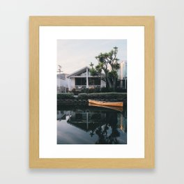 A Frame | Venice Beach, California Framed Art Print