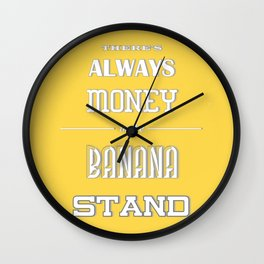 Banana Stand (Arrested Devt) Wall Clock