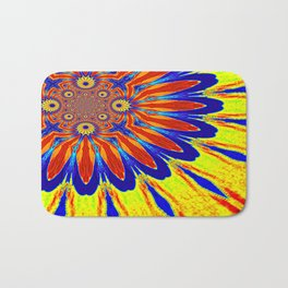 The Modern Flower Primary Colors Bath Mat
