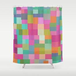 Mid-Century Modern Colorful Geometric 2 Shower Curtain