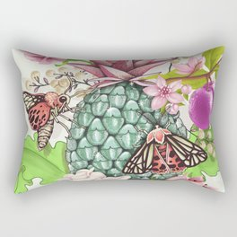 Glam Tropical - silver version Rectangular Pillow