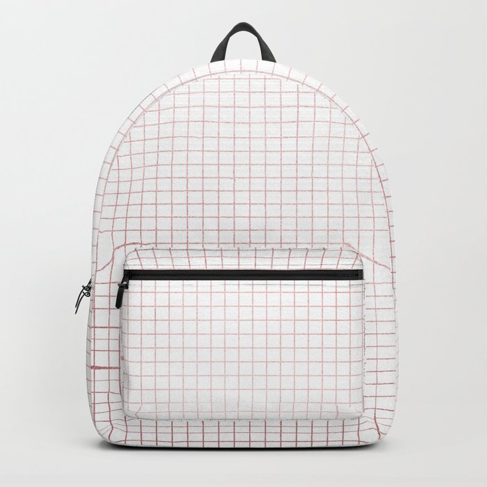 Simply Grid Lines in Rose Gold Sunset Backpack