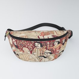 Kerman South Persian Pictorial Rug with Joseph Fanny Pack