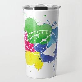 School Psychologist with Brain Travel Mug