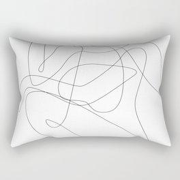 Thinking Woman Rectangular Pillow