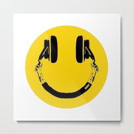 Music Smile Metal Print