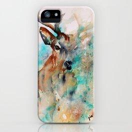 Abstract Deer Watercolor iPhone Case