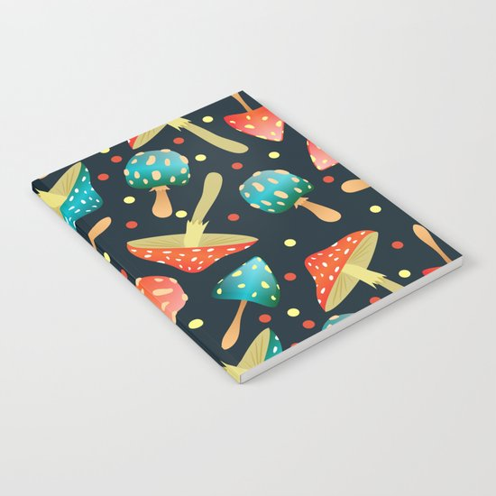 Bright mushrooms Notebook