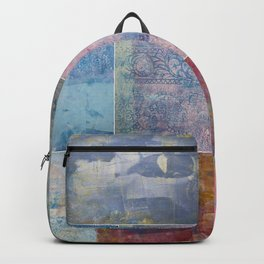 Collage monoprints Backpack